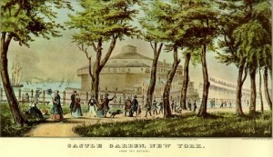 Castle Garden, New York, about 1848