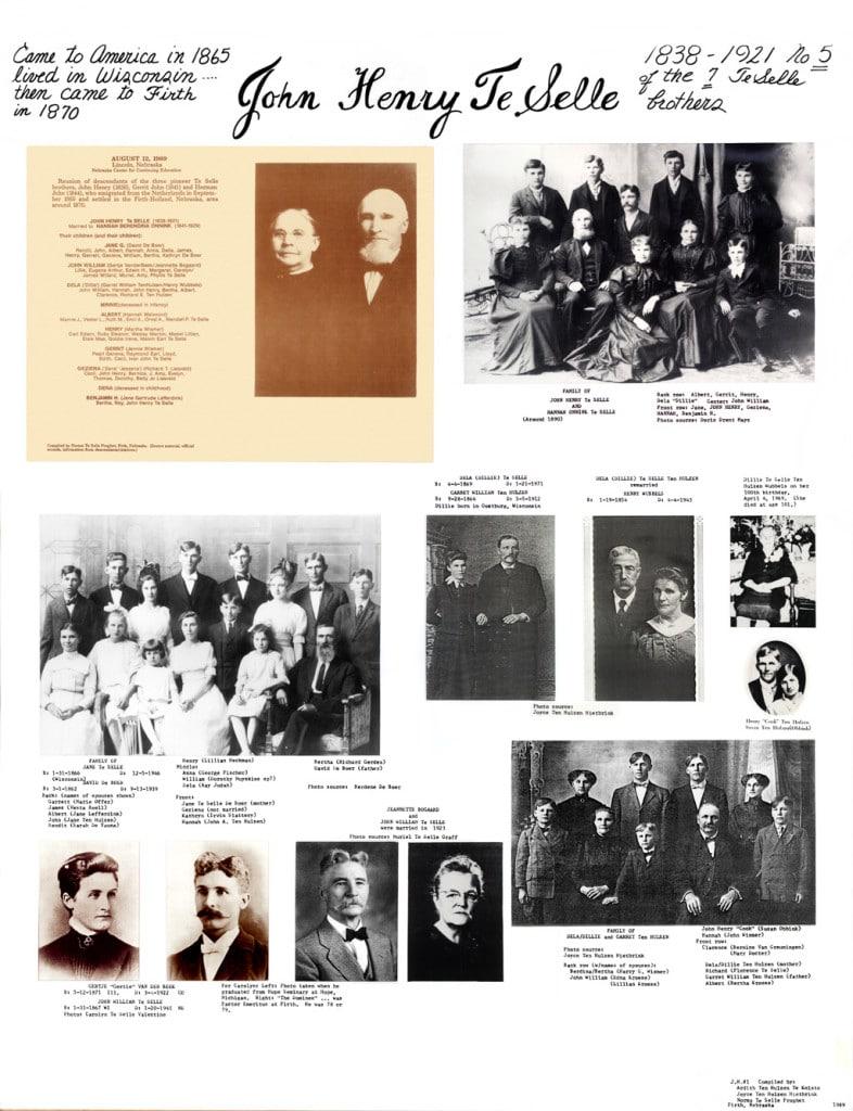 """Panel """"A"""" of John Henry Te Selle family panels"""