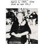 """Dela """"Dillie"""" TeSelle Ten Hulzen Wubbels celebrates her 100th birthday on April 4, 1969. She lived to be 101."""