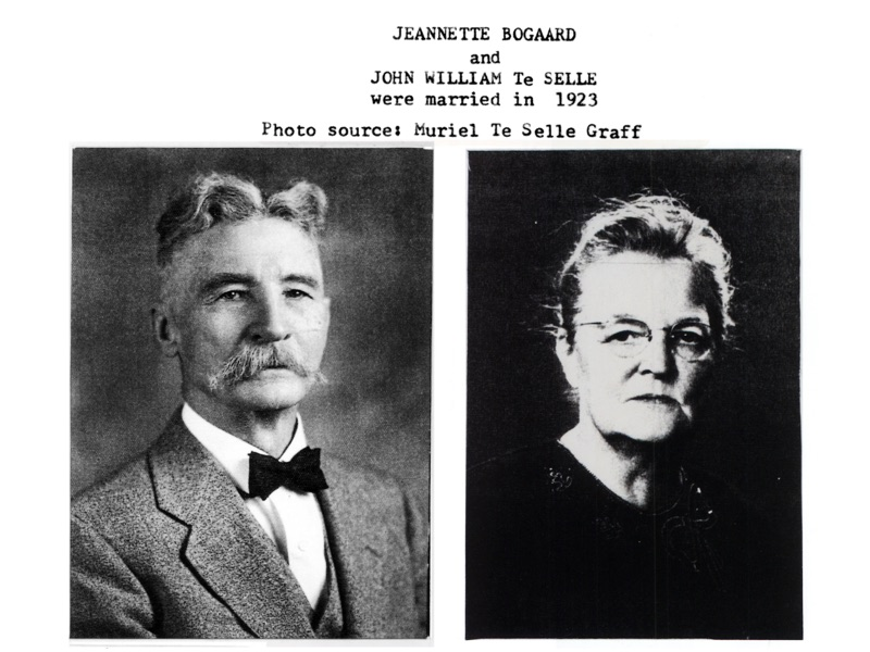 John William TeSelle (1867-1945) and Jeannette Bogaard (1884-1973), married from 1923 until his death in 1945.