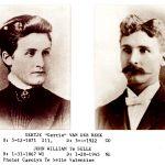 """Gertje """"Gertie"""" Van Der Beek (1871-1922) and John William TeSelle (1867-1945), married from 1897 until her death in 1922."""