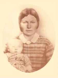 Berendina A. Reusink Schreurs (1841-1876) and baby Manus Schreurs (1864-1952)